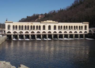 Diga del Panperduto sul Fiume Ticino